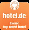 Auszeichnung hotel.de 2014
